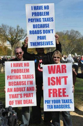 Funny Taxes Protest Signs